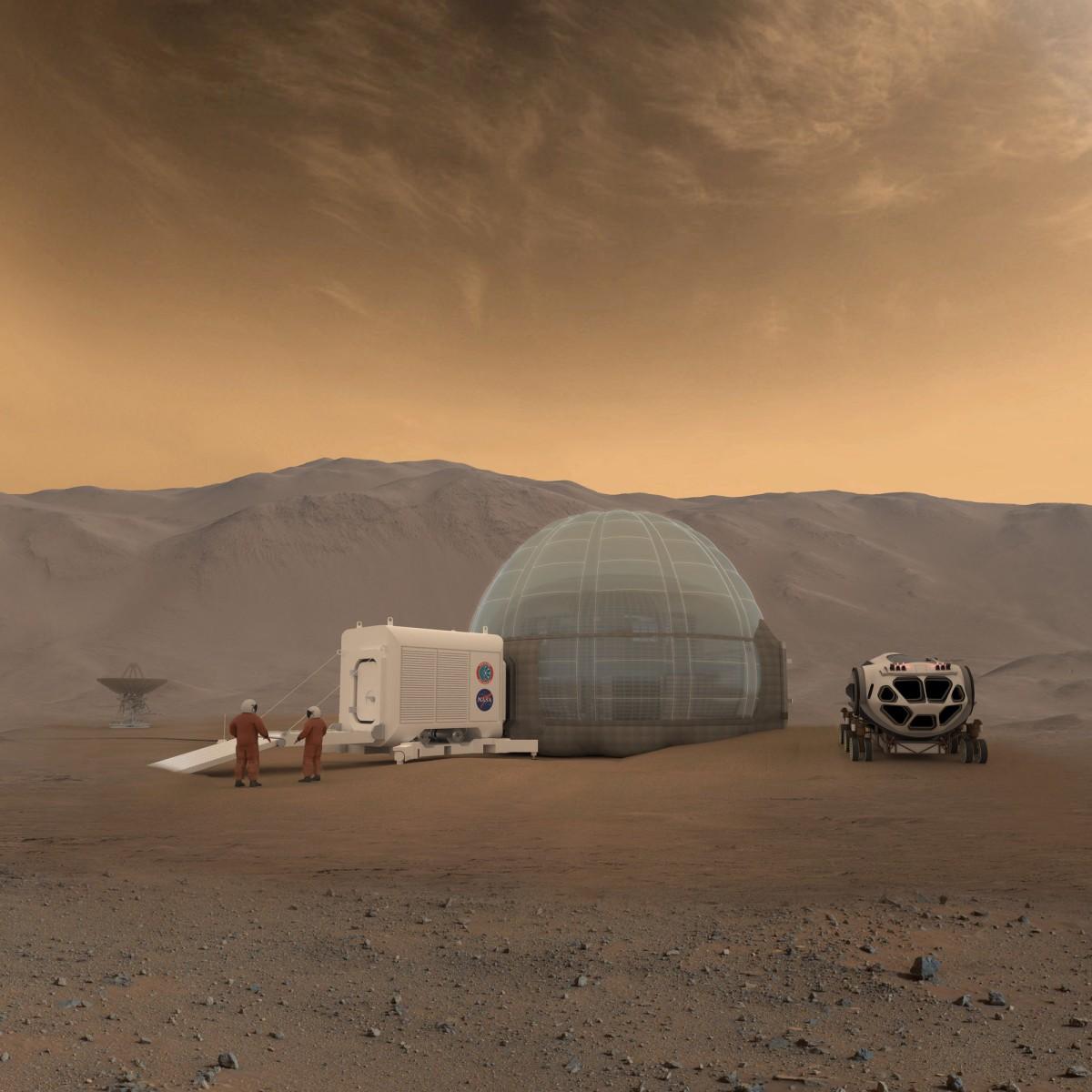 Покорители Марса смогут обжиться на планете в ледяных иглу