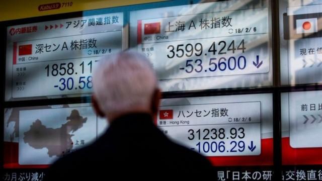 Азиатские фондовые индексы упали вслед за Доу-Джонсом