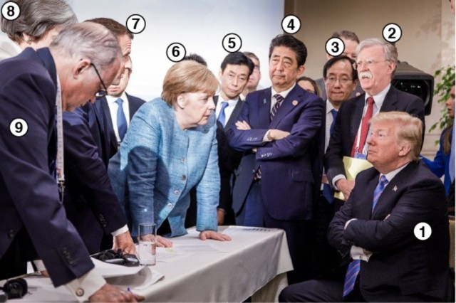 Кто есть кто на знаменитом фото Меркель с саммита G7