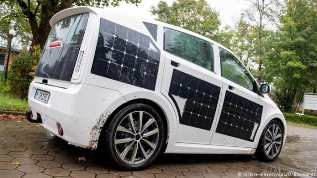 Немецкие технологии: солнечные панели на электрокарах (видео)