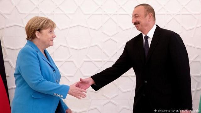 Меркель и Алиев хотят больше газа для ЕС из Азербайджана