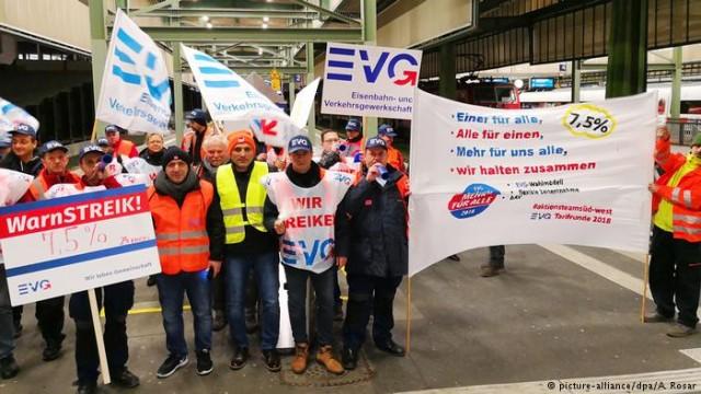 Забастовка Deutsche Bahn: в ФРГ не ходят поезда дальнего следования