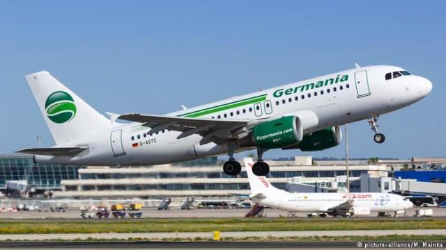 Авиакомпания Germania подала на банкротство и прекратила полеты