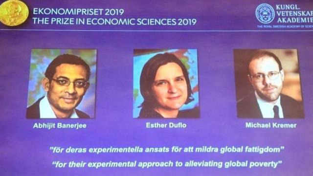 Нобелевскую премию по экономике получили Абхиджит Банерджи, Эстер Дюфло и Майкл Кремер