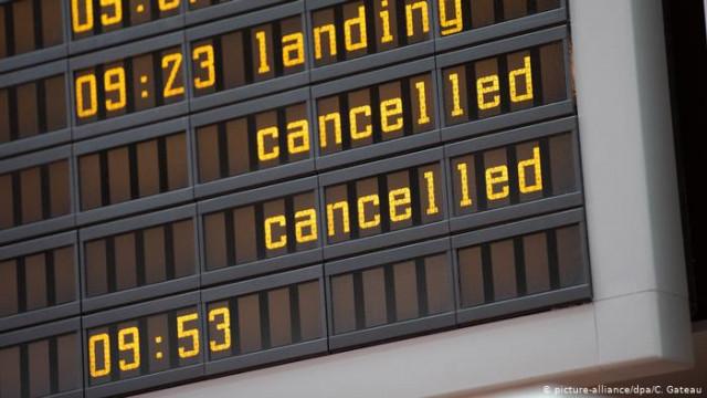 Через новогодний забастовку бортпроводников дочери Lufthansa отменены 170 рейсов