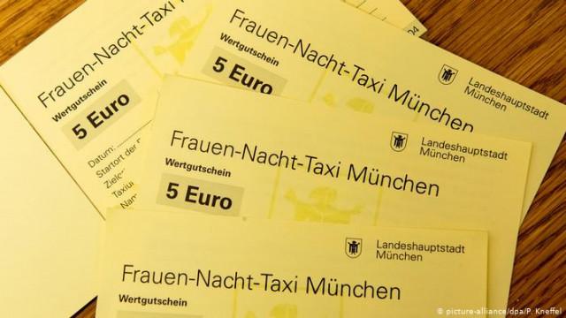 Мюнхен начал частично оплачивать женщинам поездку в такси ночью