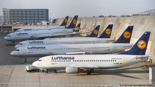 Lufthansa из-за коронавирус сокращает 95 процентов рейсов