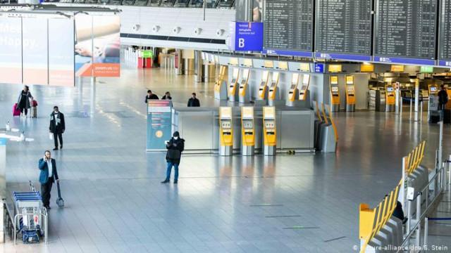 Пассажиропоток в аэропортах Германии упал на 98 процентов