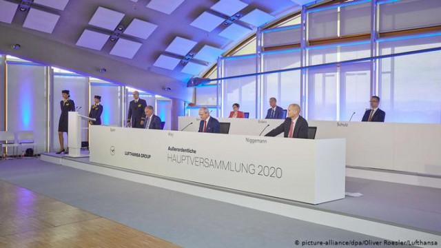 Акционеры Lufthansa одобрили участие государства в обмен на 9000000000 евро
