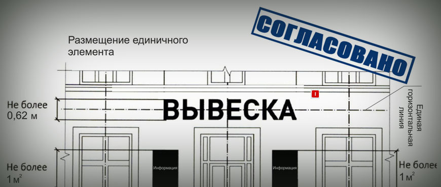 Рекламная вывеска на жилом доме в Москве