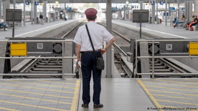 В Германии начался пятидневную забастовку железнодорожников